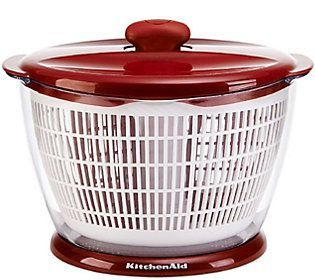 KitchenAid Classic Red Plastic Salad Spinner