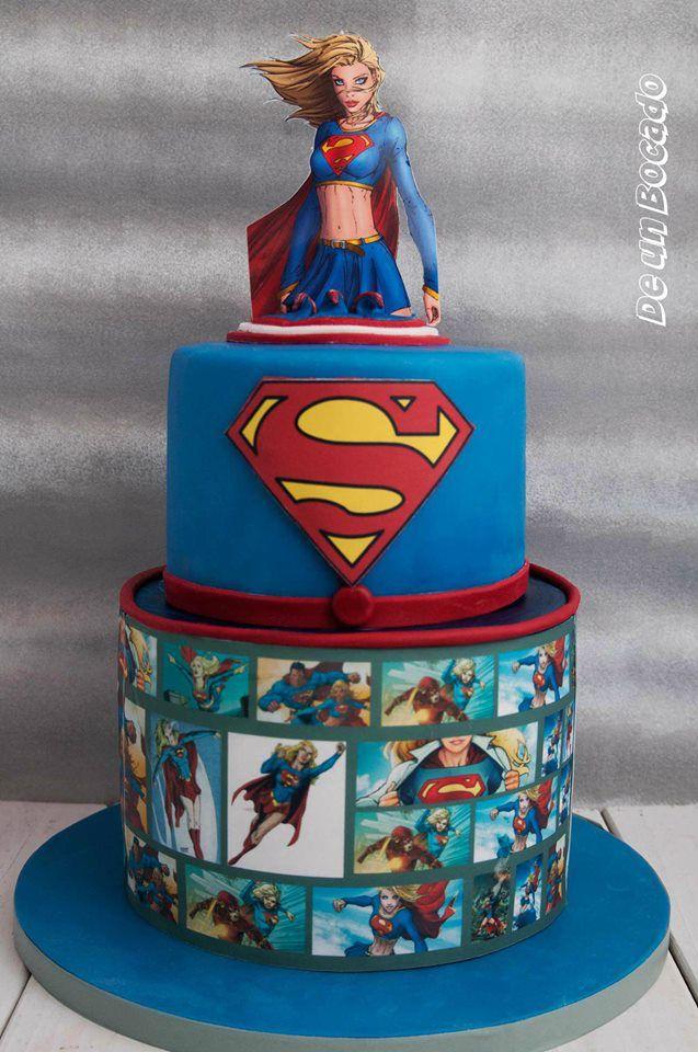Supergirl superwoman cake superhero
