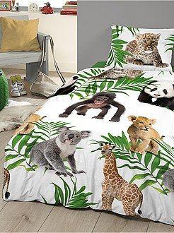Linge de lit enfant - Parue de lit imprimé Bébés animaux - Kiabi