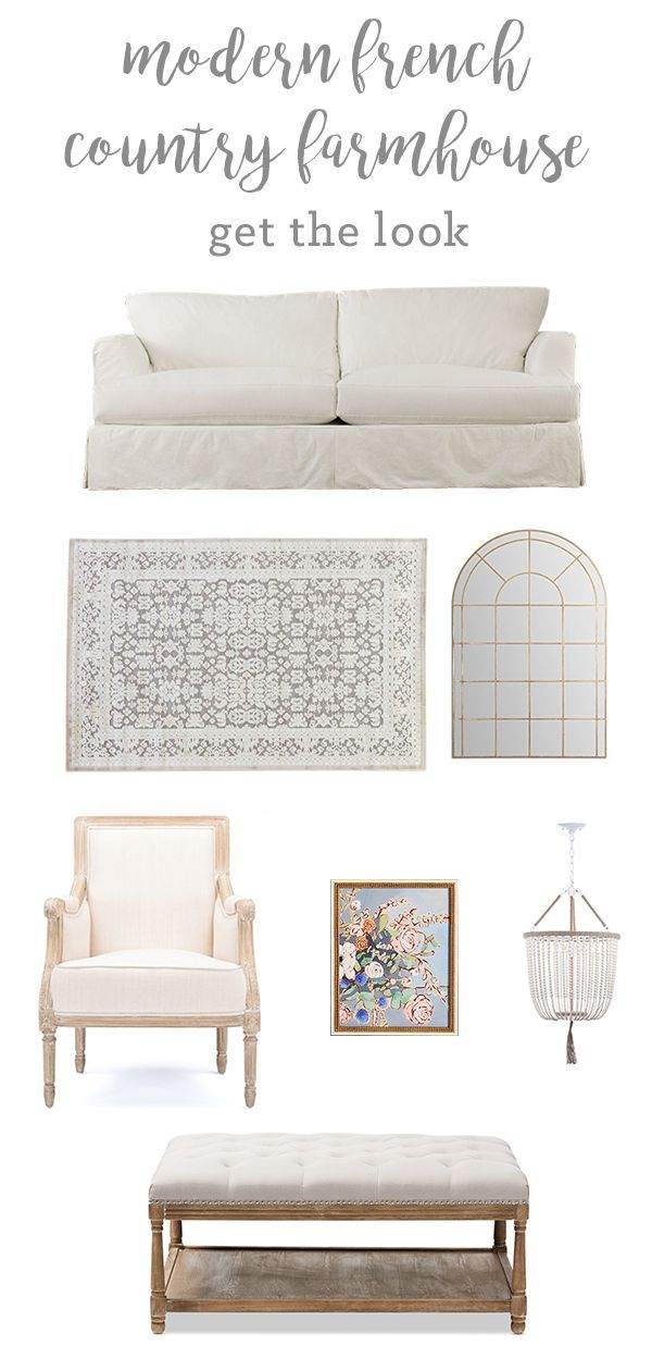 modern french country farmhouse living room diy home decor ideas rh pinterest com