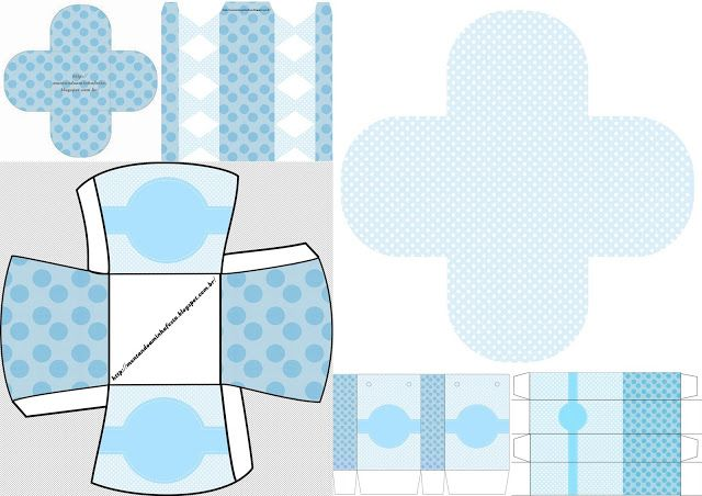 Light Blue and Polka Dots:  Free Printable Boxes.