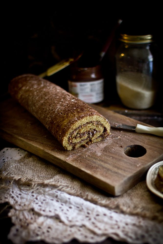 Roasted Hazelnut Nutella Roulade