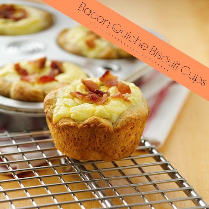 Bacon Quiche Biscuit Cups | Recipe | Bacon Quiche, Quiche and Bacon