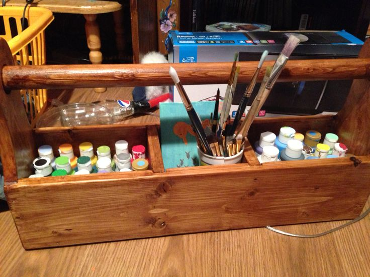 Dad made me a great paint box! Love it!