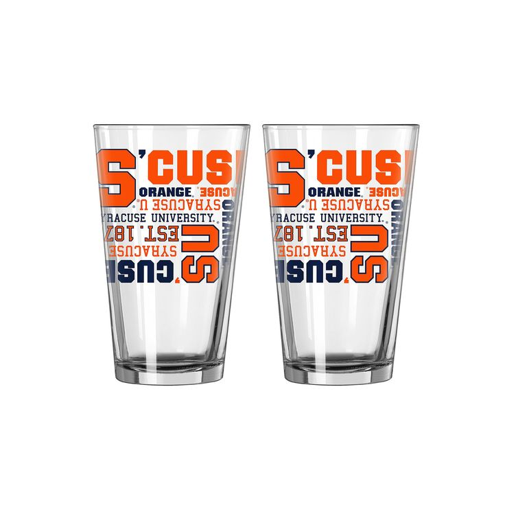 Boelter Syracuse Orange Spirit Pint Glass Set, Multicolor