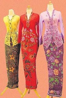 Beautiful kebayas. Wonder what's Emily's favourite colour...