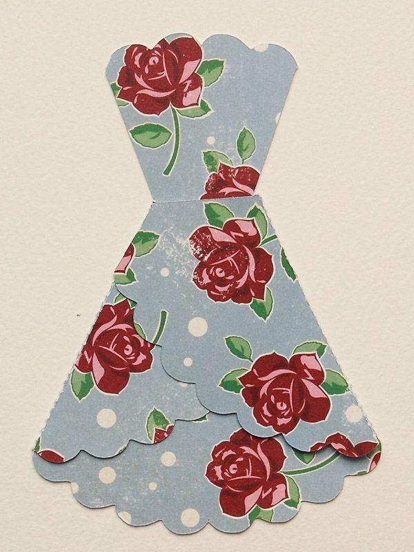 Как сделать открытку платья своими руками