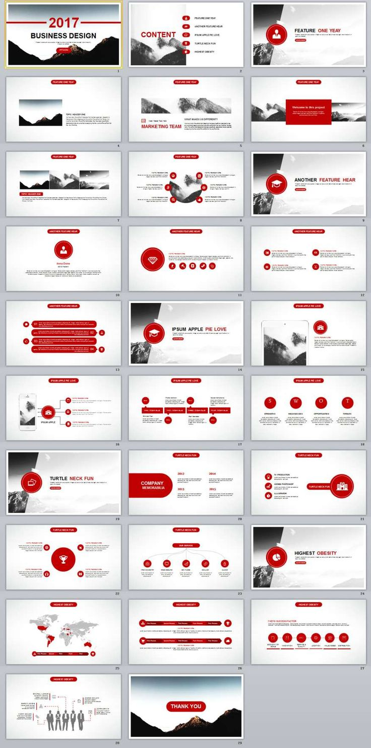 172 best 2018 business powerpoint template images on pinterest 29 red business annual report powerpoint templates toneelgroepblik Images
