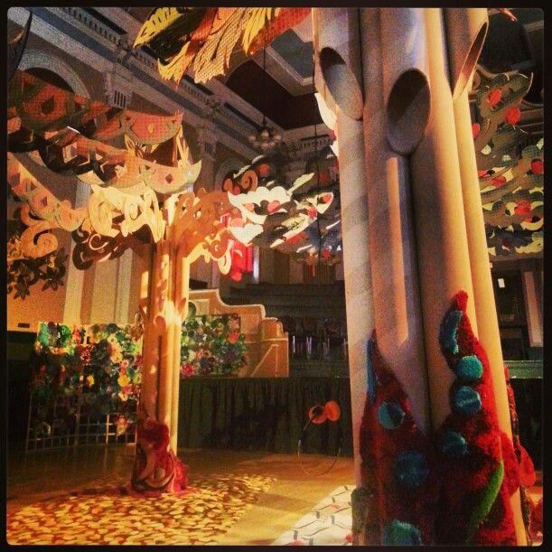 Kidderminster Art Festival 2013.  Carpet forest in the Town Hall.