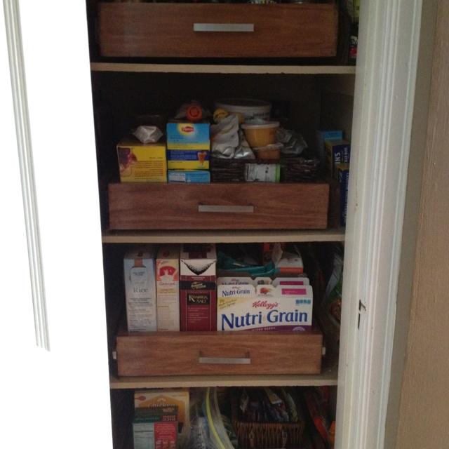 diy slide out shelves for my pantry projects pinterest. Black Bedroom Furniture Sets. Home Design Ideas