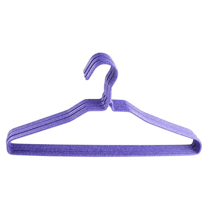 UXCELL Plastic Wrapped Metal Rack Household Clothes Coat Hook Hanger Purple 9 Pcs