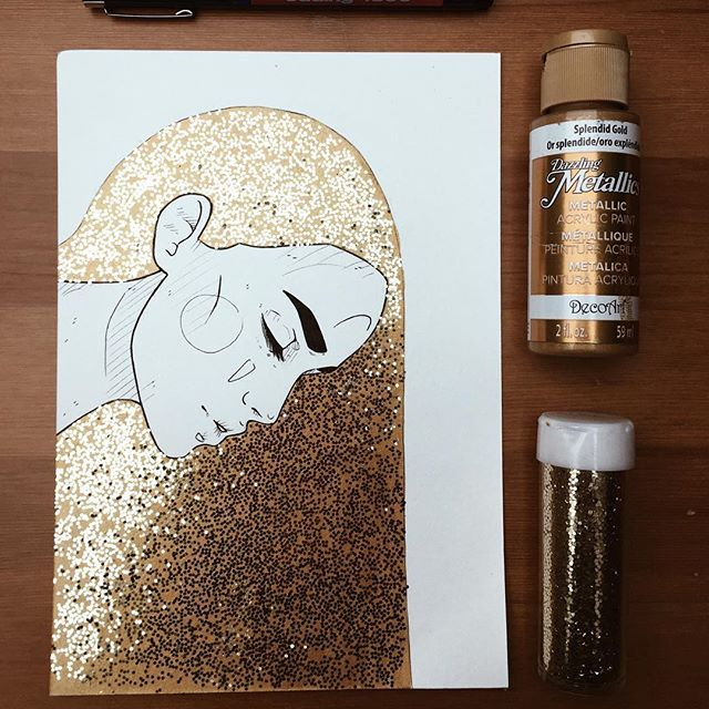 I usually loathe glitter, but this is stunning.