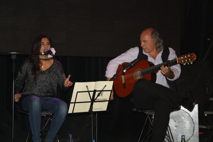Sala Arena (Madrid), 26/10/2012. | Rocío Camacho con Juan Camacho a la guitarra.