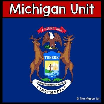 Social Studies Unit on Michigan. This Unit includes 24 pages of all types of activities that will grab your students attention and keep them engaged in learning about the wonderful state of Michigan! Includes: Day to Day Lesson Guide Michigan Flag (and Flag Meaning) Michigan Flag Meaning Quiz with Answer