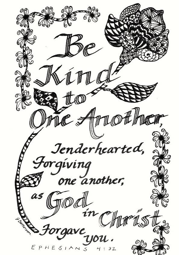 Bible Verse In Ink Using Zentangle Doodles By Artist J