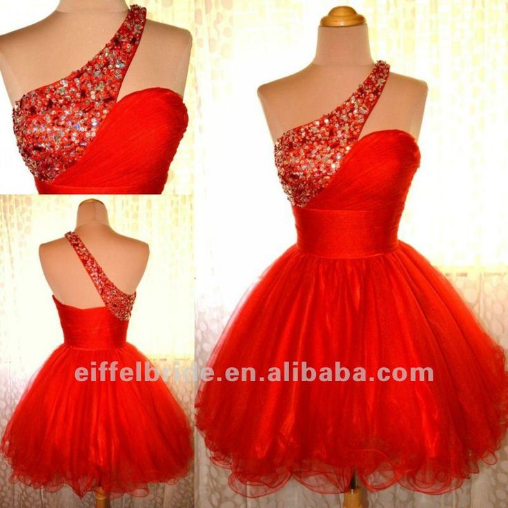 Robe de bal courte rouge robe rose ceremonie