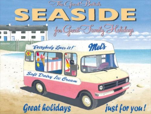New Retro seaside Ice Cream Van # 113 Vintage Style Metal Wall Plaque Sign | eBay