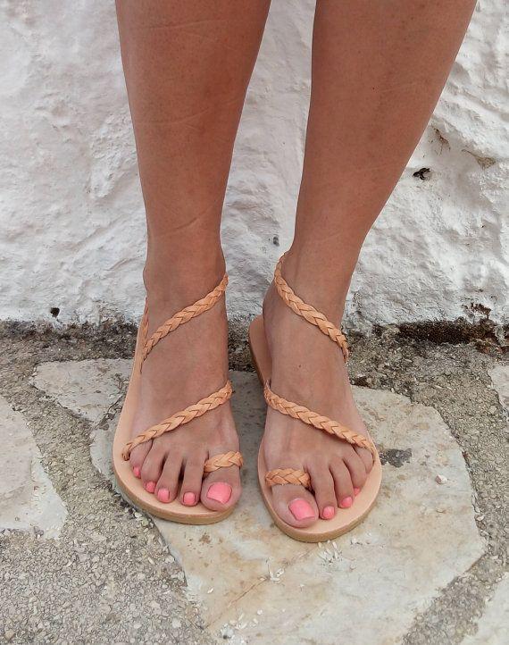 AUF Verkauf Leder Sandalen / Damenschuhe / von GrecianSandals