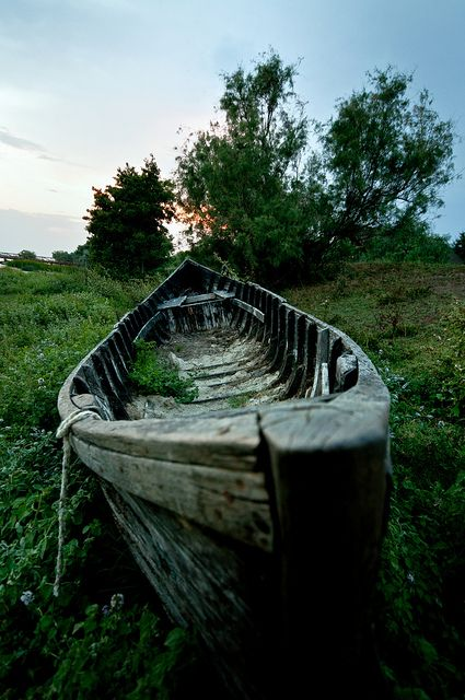 Abandoned boat in The Danube Delta, Romania (by Dragos Cosmin).  #Danube #Delta #Romania #Chilia #Sulina #Sfântul #Gheorghe #Tulcea The Danube Delta is perhaps the least inhabited region of temperate Europe. In the Romanian side live about 20,000 people, of which 4,600 in the port of Sulina, which gives an average density of approx. 2 inhabitants per km².