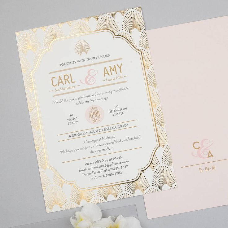 wedding invitation cards email%0A Are you interested in our Deco wedding invitation  With our Metallic foil  invitation you need