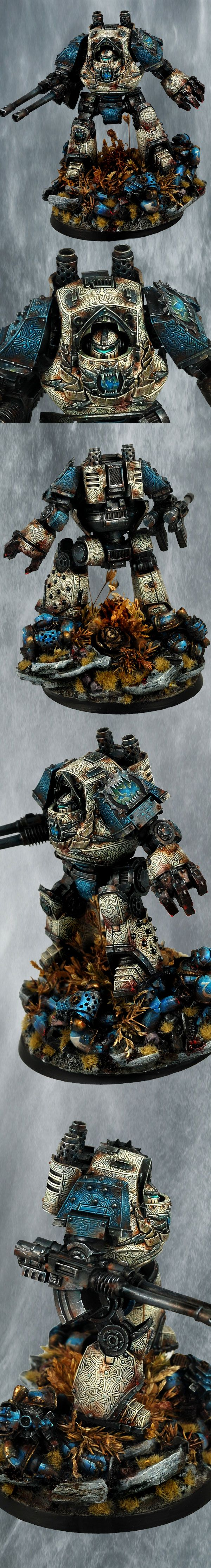 Pre-Heresy Space Marine Contemptor Dreadnought of the World Eaters Chapter.