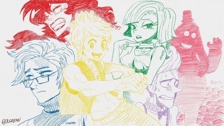 InsideOut comics(manga) version!  #insideout #bingbong #character #fanart #pixar