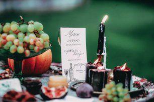 Свадебное меню с каллиграфией
