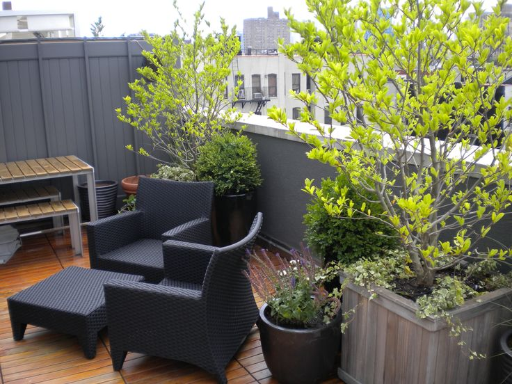 Rooftop Garden Design Plans With Rustic Black Armchairs And Wooden Coffe  Tables At Patio Balcony Roof Patio Gardening Design Amazing Rooftop. Part 54
