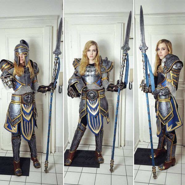 wow-guard-cosplay worbla female knight paladin fighter soldier chainmail cosplay costume LARP LRP armor clothes clothing fashion player character npc | Create your own roleplaying game material w/ RPG Bard: www.rpgbard.com | Writing inspiration for Dungeons and Dragons DND D&D Pathfinder PFRPG Warhammer 40k Star Wars Shadowrun Call of Cthulhu Lord of the Rings LoTR + d20 fantasy science fiction scifi horror design | Not Trusty Sword art: click artwork for source