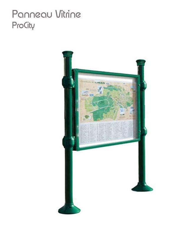 Panneau vitrine double face, affichage 80 x 120 cm, Design ProCity