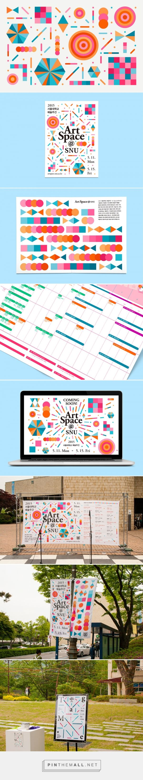 Leaflet and applications for Artspace@SNU festival on Behance - created via…
