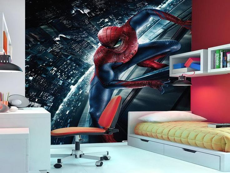 Bedroom the beautiful design of spiderman room d 233 cor with best style