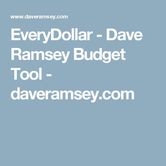 EveryDollar – Dave Ramsey Budget Tool – daveramsey…