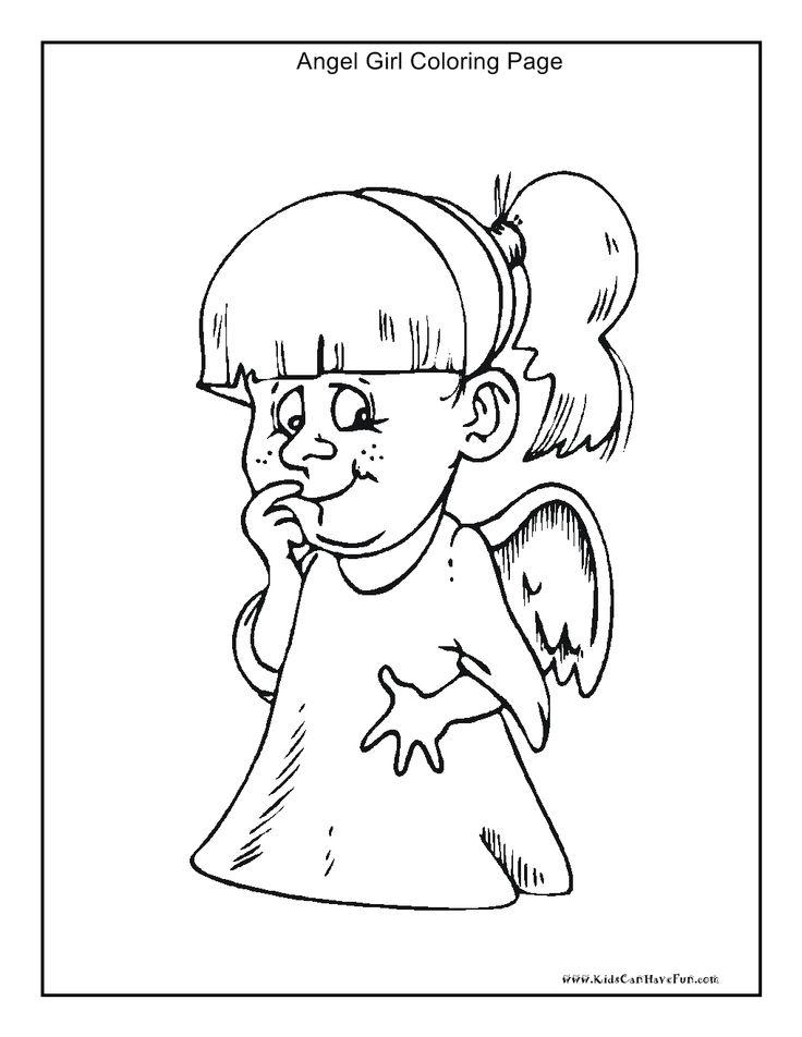 angel girl coloring page httpwwwkidscanhavefun