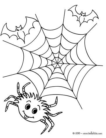 spider web coloring 1  halloween coloring pages