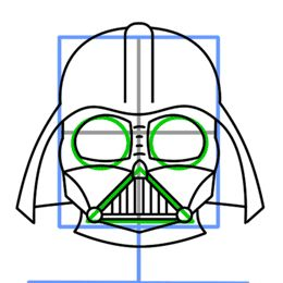 How to Draw Darth Vader, need this for starwars cookies