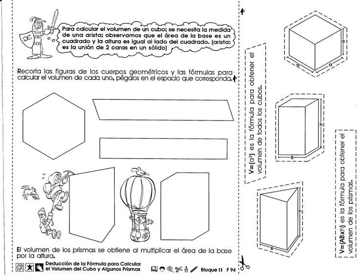 Deducción de la fórmula para calcular el volumen del cubo y algunos prismas