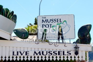 The Mussel Pot Restaurant, Havelock, Marlborough, NZ Royalty Free Stock Photo