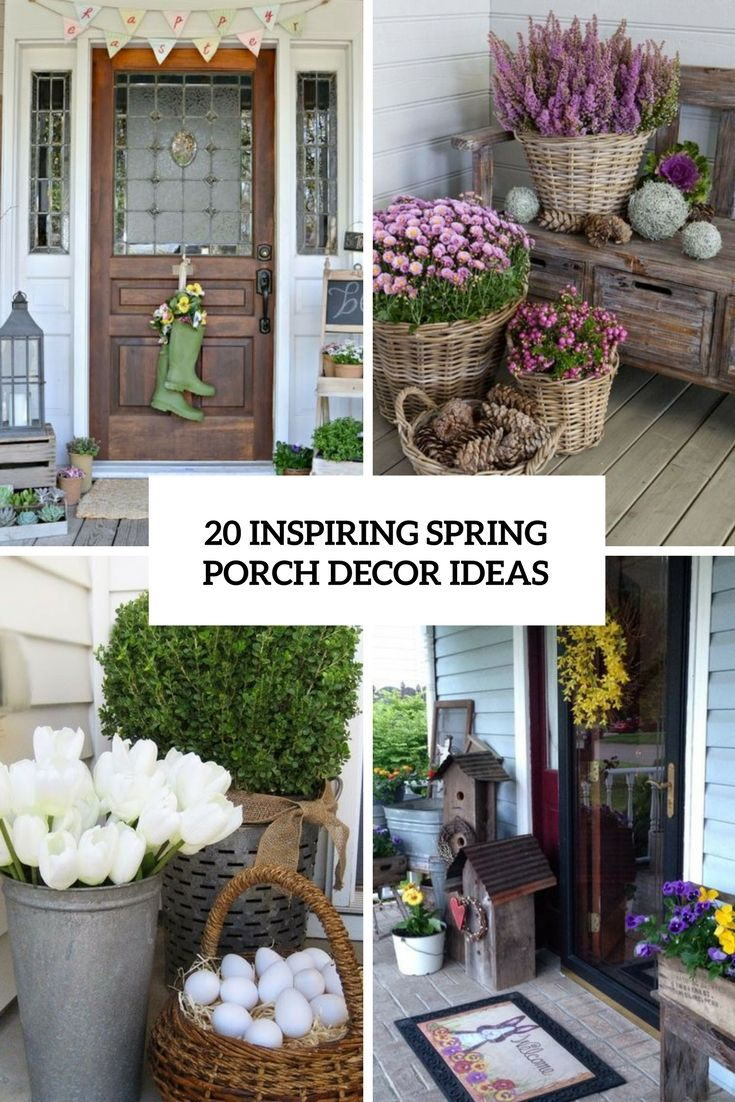 Inspiring Spring Porch Decor Ideas Cover