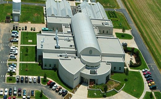 Aerial view of the Dale Bumpers National Rice Research Center in Stuttgart, Arkansas.