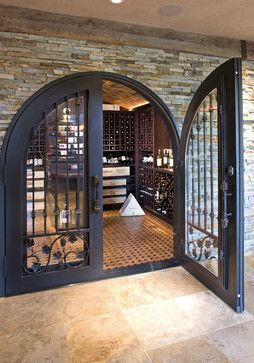 Luxurious Wine Room - eclectic - wine cellar - minneapolis - by John Kraemer & Sons