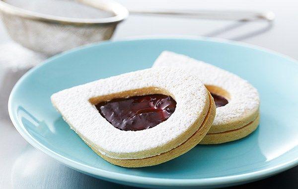 Almond Linzer Cookies- Anna Olson
