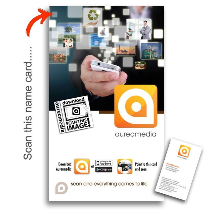Download aurecmedia and scan this name card