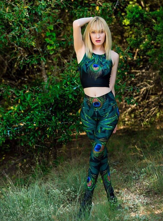 #weed  #leggings  #Cannabis leaves pants #420 weed leaf #peacock #ganjayoga #ganja