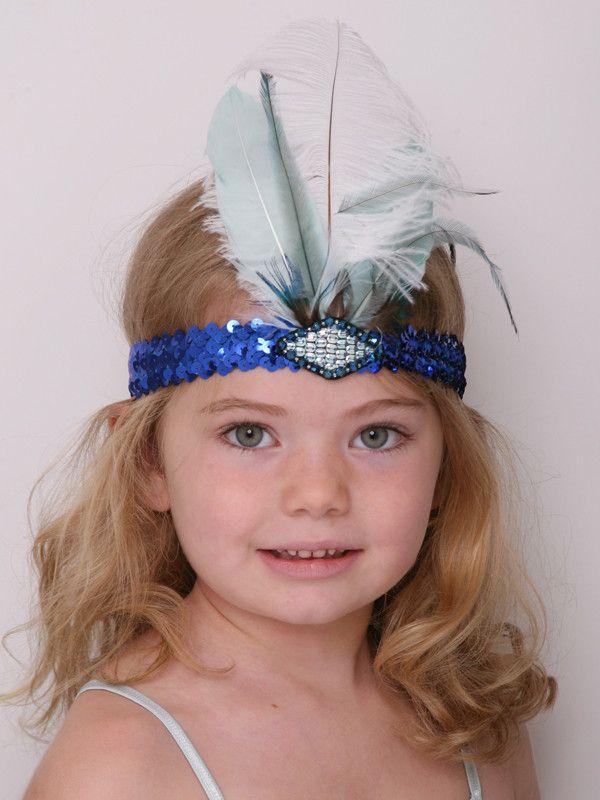 Feather Headband - Blue