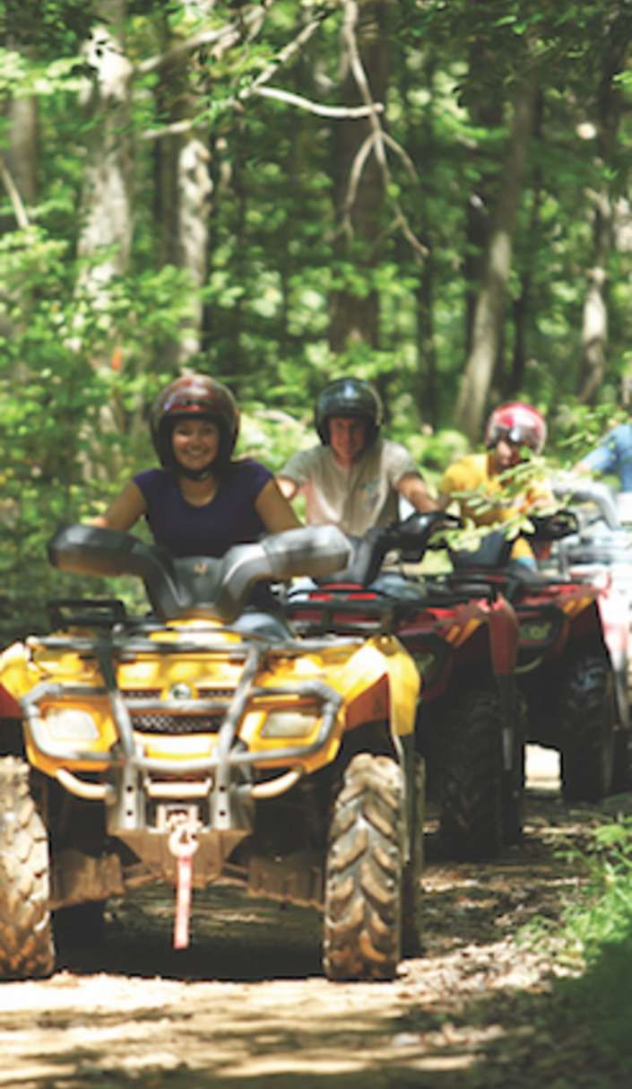 The Hatfield and McCoy trails stretch over 500 miles through scenic mountains.