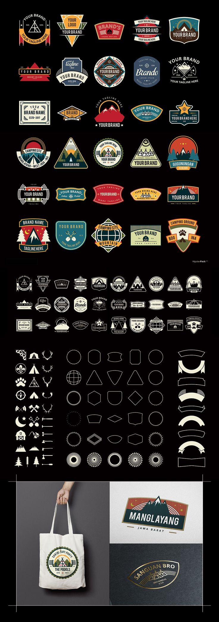 https://www.behance.net/gallery/53131693/Hipster-Pack-02-(Premade-Logo)