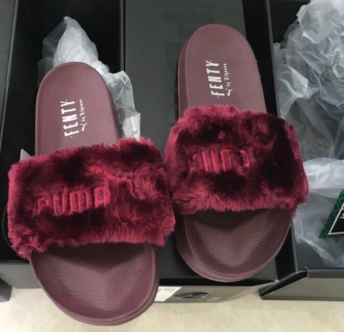 "precieuse-vv: ""y3: ""FENTYx PUMA Slides in Wine "" Y """