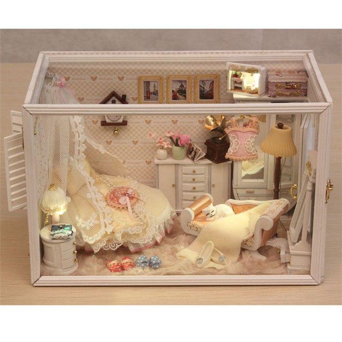 DIY Assemble Warm Wedding Room Dollhouse Miniature
