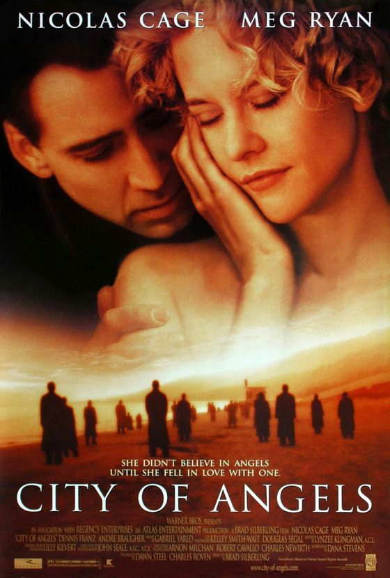 56. City of Angels (1998)    I know I've probably watched this film a dozen times already, but I still get this warm and fuzzy feeling when seeing Meg Ryan and Nicholas…
